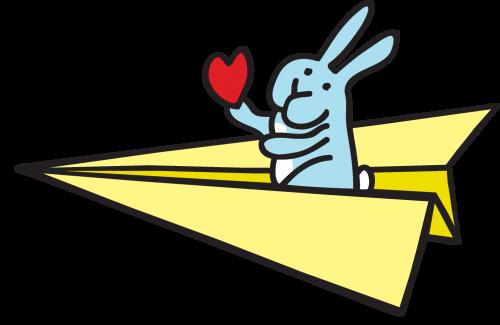 Paper Plane bunny
